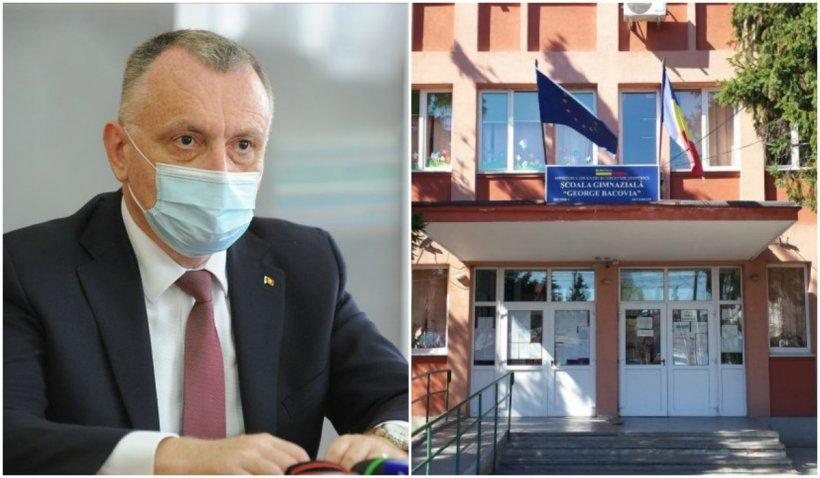 Sorin Cîmpeanu a prezentat măsurile luate la Școala Gimnazială George Bacovia, acolo unde un elev s-a aruncat de la etaj
