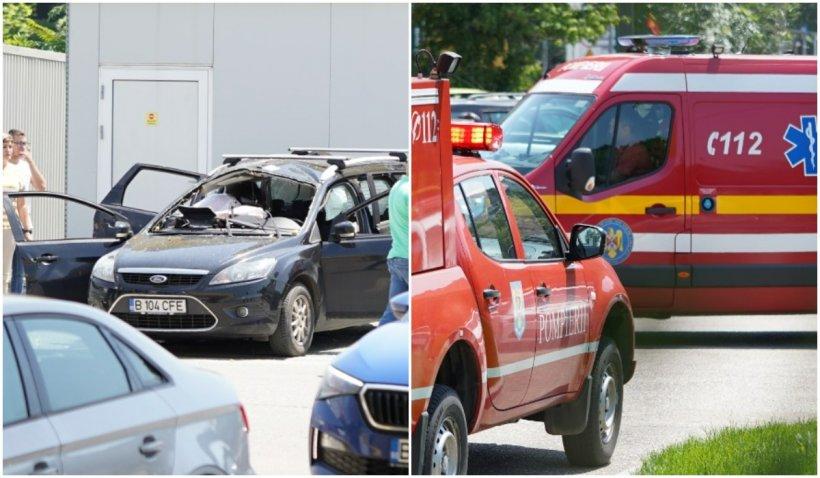 O persoană a murit, după ce o mașină a explodat într-o benzinărie din București