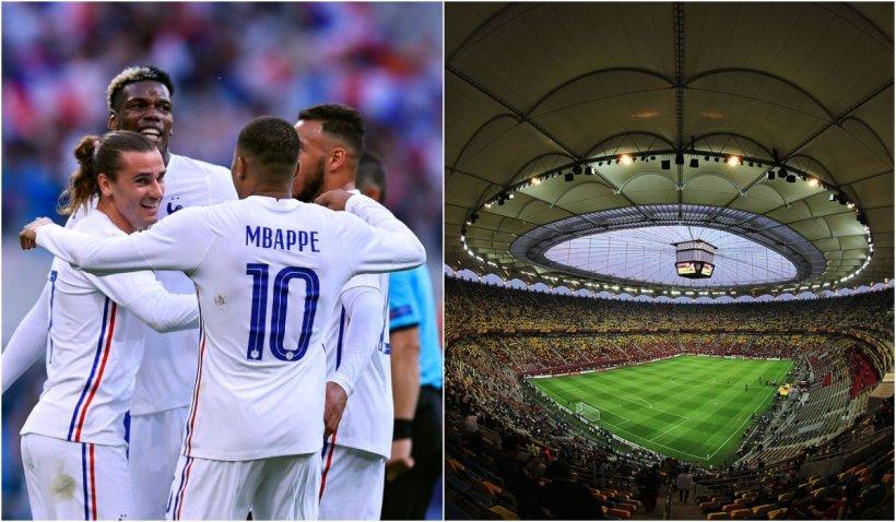 Optimile de finală EURO 2020. Mbappe vine la București, împreună cu naționala Franței