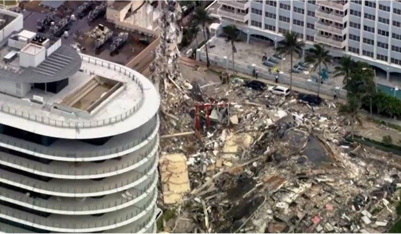 99 de americani sunt dați dispăruți după ce o clădire s-a prăbușit în Florida