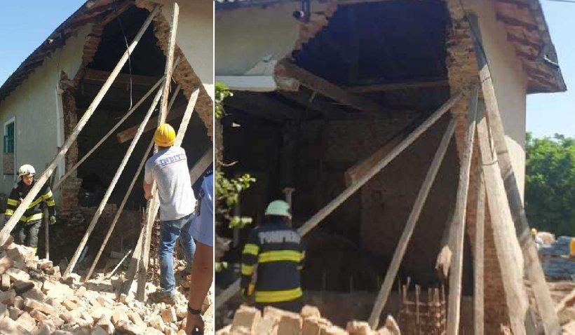 Un muncitor din Iaşi a murit, după ce zidul unei școli aflată în renovare s-a prăbușit peste el