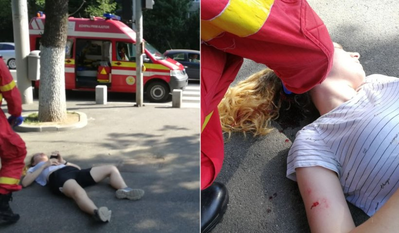 Tânără din București, spulberată pe trotuar de o trotinetă electrică
