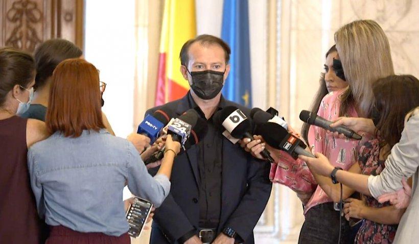 """Florin Cîțu: """"Parlamentarii coaliției nu vor vota la moțiune. Dacă vor să participe, pentru divertisment"""""""