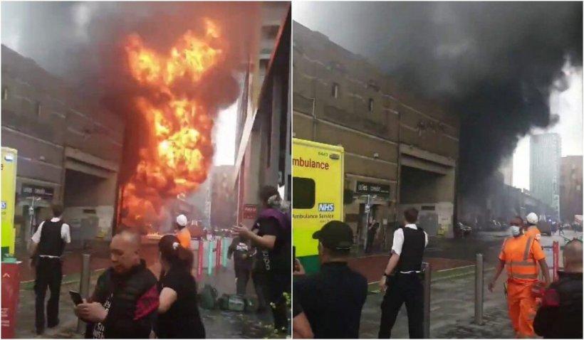 O stație de metrou din Londra a fost aruncată în aer, după ce patru mașini au explodat în apropiere