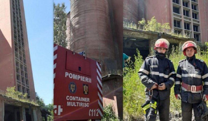 Salvare contracronometru după ce un bărbat a căzut de la mare înălțime într-un siloz al minei Vulcan
