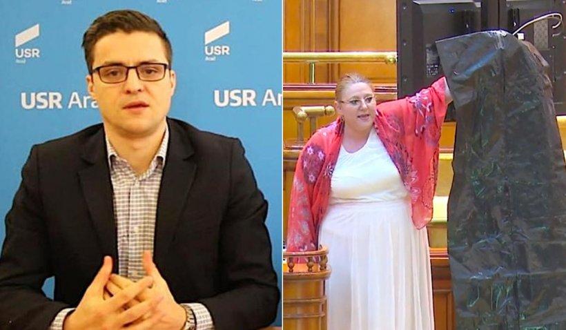 """Chestorul """"tras de nas"""" de Șoșoacă va depune plângere penală. Orban: """"Acest personaj sinistru nu înțelege unde se află"""""""