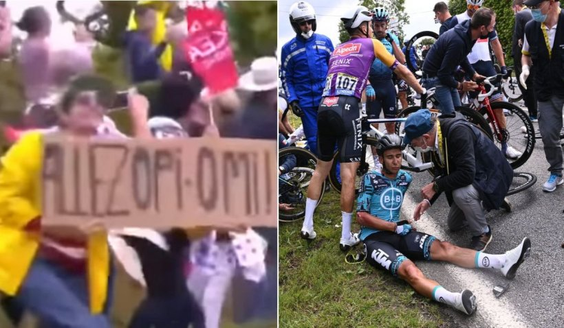 A fost arestată femeia care a provocat carambolul de la Turul Franței și retragerea ciclistului Jasha Sutterlin