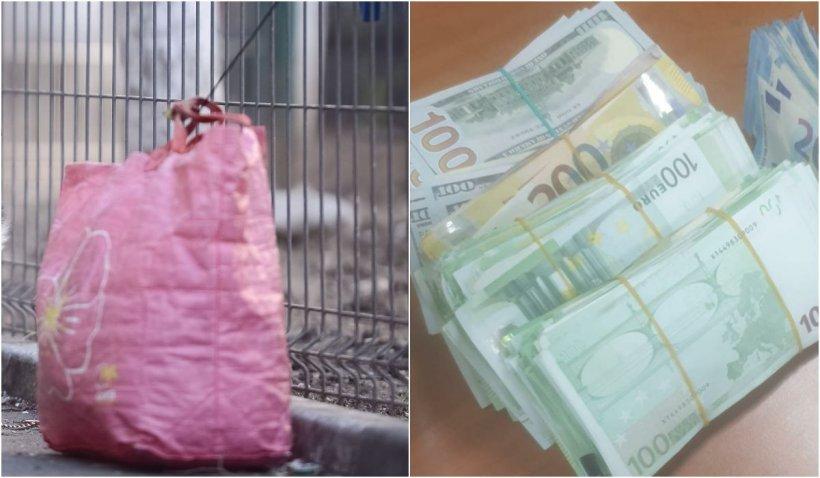 Cine este tânărul găsit cu 320.000 de euro într-o sacoșă de rafie la Piața Romană din Capitală