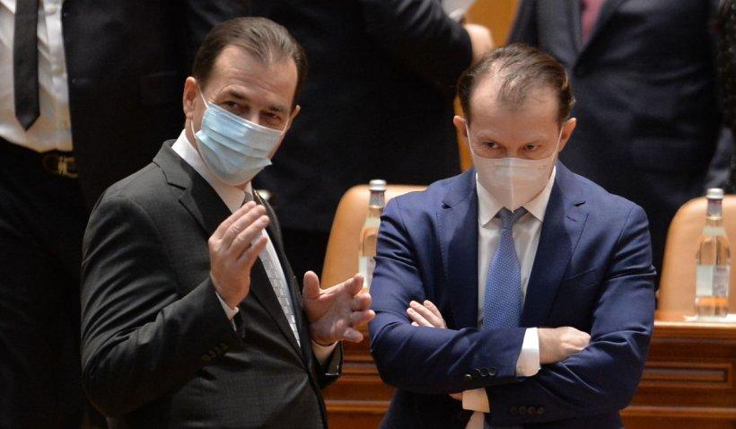 Cîţu, ironie la adresa lui Orban, după ce acesta i-a întrerupt discursul