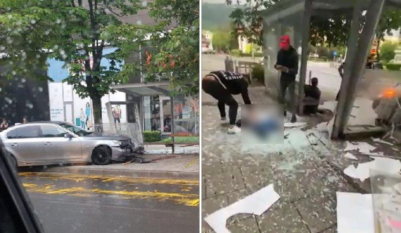 Două persoane au fost strivite de un BMW în timp ce aşteptau autobuzul pe o stradă din Baia Mare