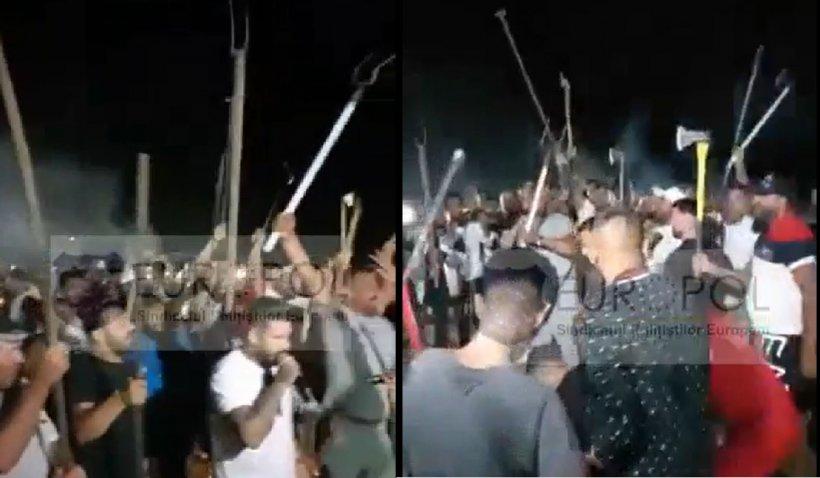 """Sindicatul Europol, despre interlopii din Bucureşti: """"Așa vor arăta de acum petrecerile cu furci, topoare, săbii, cazmale și bâte de baseball"""""""