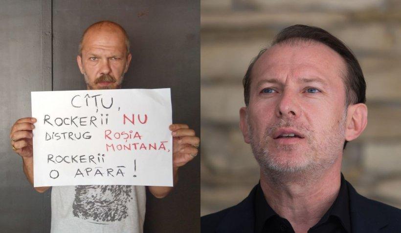 """Cunoscut rocker clujean, mesaj pentru Florin Cîțu: """"Parvenit deghizat în băiat de gașcă. Jos labele de pe Roșia Montană"""""""