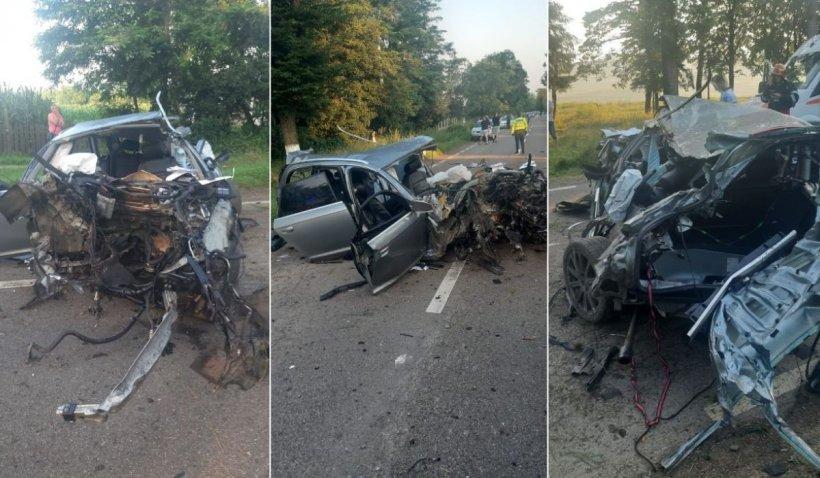 Doi tineri din Botoşani au murit într-un Audi cu volan pe dreapta, după ce au băut o sticlă de whisky