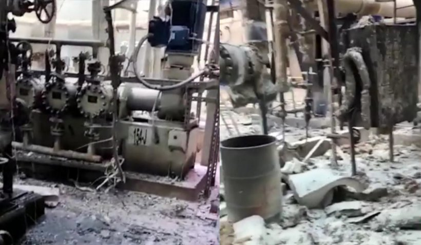 Primele imagini din interiorul Combinatului Azomureș după incendiu