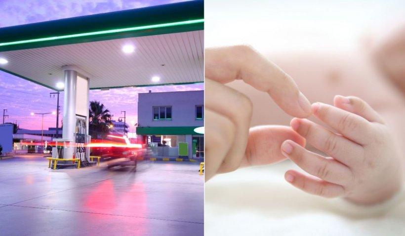 O tânără a născut într-o benzinărie din Satu Mare şi şi-a aruncat fetiţa la gunoi, când se întorcea din Germania