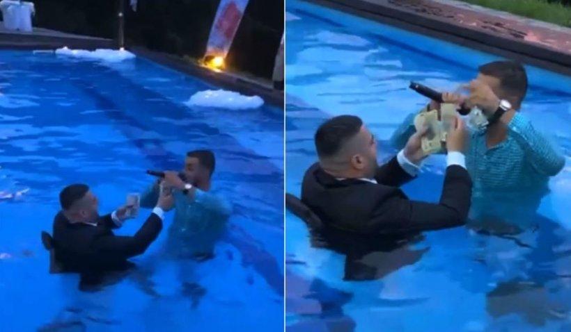 """Dedicaţii de zeci de milioane, în piscină, ultima modă la petrecerile cu manele: """"Spălare de bani"""""""