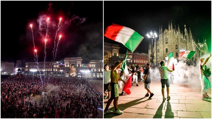 Italia este campioană europeană! Cum au petrecut suporterii pe străzile Romei