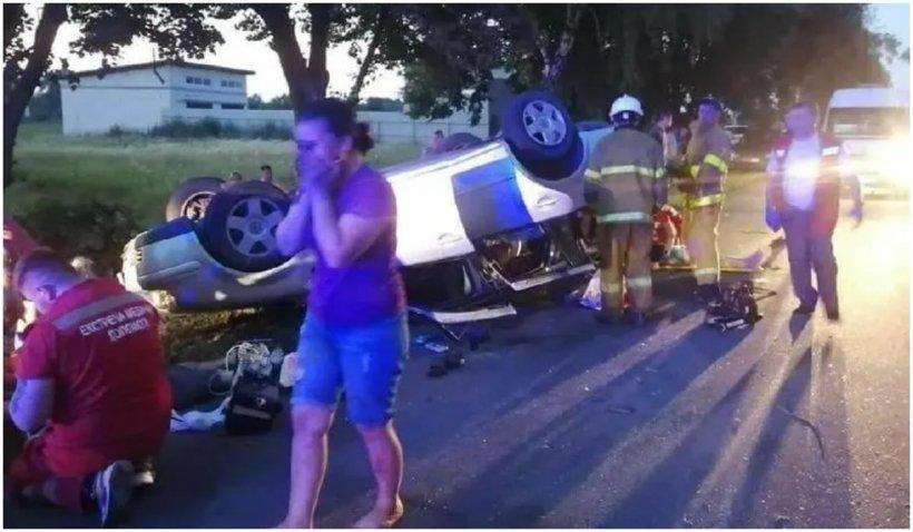 Accident mortal pe un drum din Kiev. 7 copii erau înghesuiți în portbagaj
