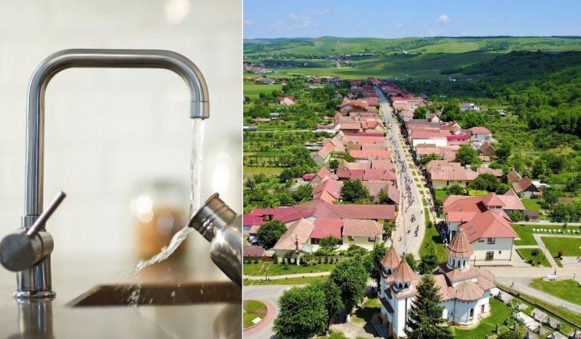 """Comuna Ciugud primește apă potabilă 5 ore pe zi. """"Nu acceptăm apă cu rația, ca înainte de 1989"""""""