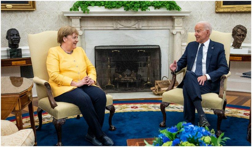 Joe Biden și Angela Merkel au semnat Declarația de la Washington, și au făcut front comun pentru a apăra Europa de agresiunea Rusiei