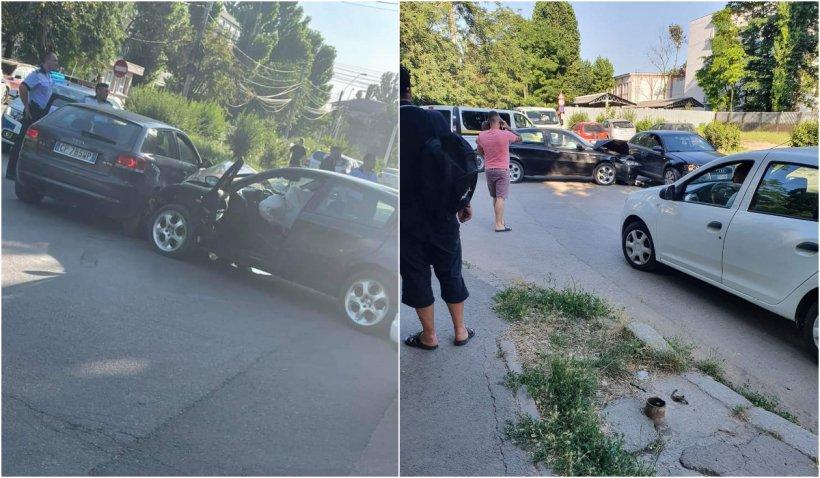 Un șofer fără permis din Galati a făcut accident, apoi a fugit. Un copil de 2 ani a fost transportat la spital