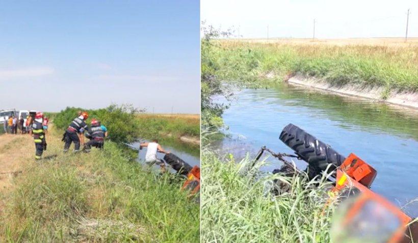 Un bărbat din Dolj a murit după ce s-a răsturnat cu tractorul într-un canal de irigații adânc de 4 metri