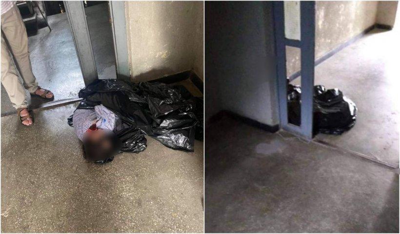 O mamă și-a băgat fiica de 40 de ani într-un sac de gunoi legat la gură și a lăsat-o la ușa blocului, în Suceava
