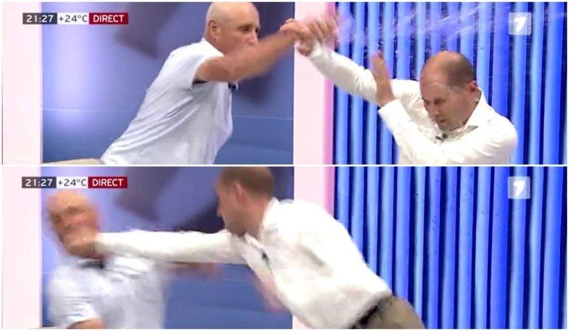 Bătaie între doi politicieni, într-un platou de televiziune din Republica Moldova. Unul dintre ei a rămas inconștient