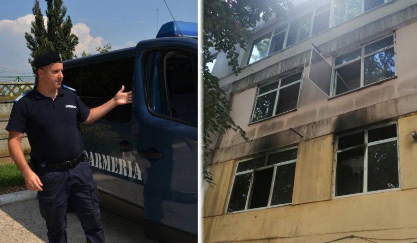 Bătrână de 80 de ani, salvată din incendiu de un jandarm aflat în timpul liber, în Brăila
