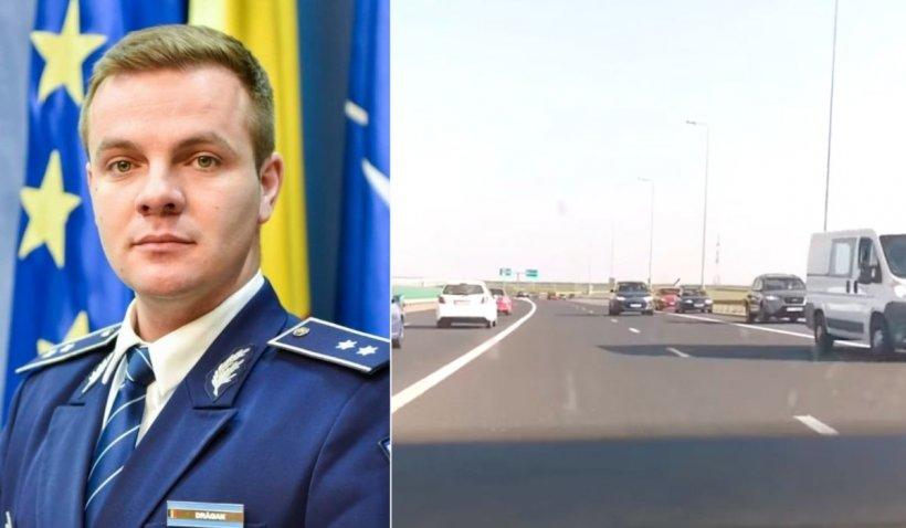 """Purtător de cuvânt Poliția Română, despre mașinile de pe contrasens pe A2: """"Mai mulți șoferi au fost identificați"""""""