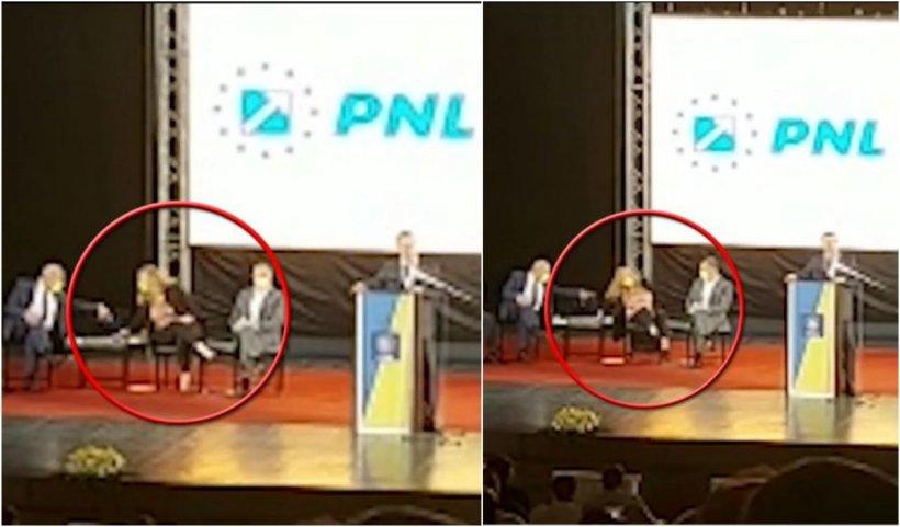 Roberta Anastase a căzut la o reuniune a PNL, după ce scaunul pe care stătea s-a rupt sub ea