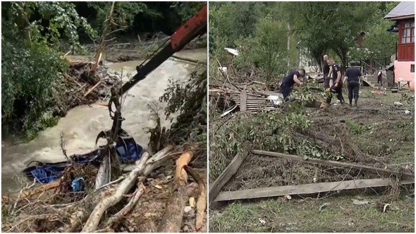 Containerele de la Guvern nu au ajuns la Sohodol. Oamenii încearcă să salveze ce a mai rămas din casele distruse de ape