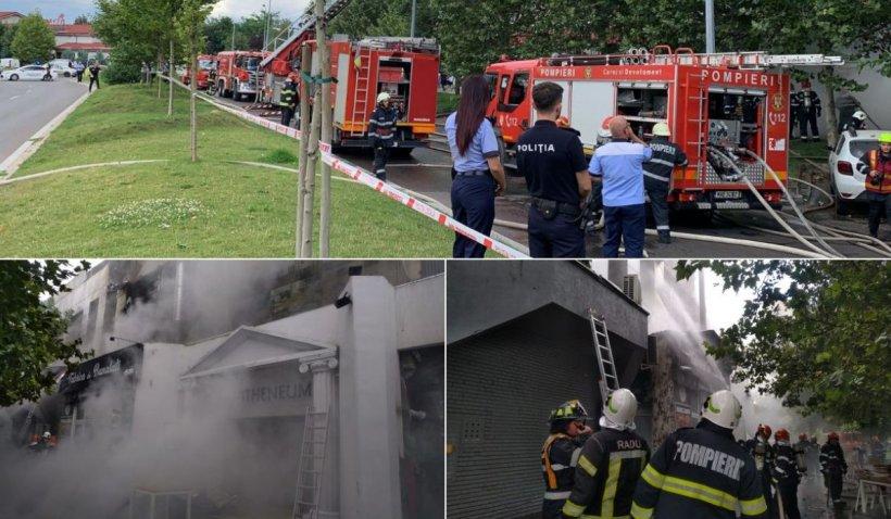 Incendiu puternic la complexul din Piaţa Delfinului, în Bucureşti