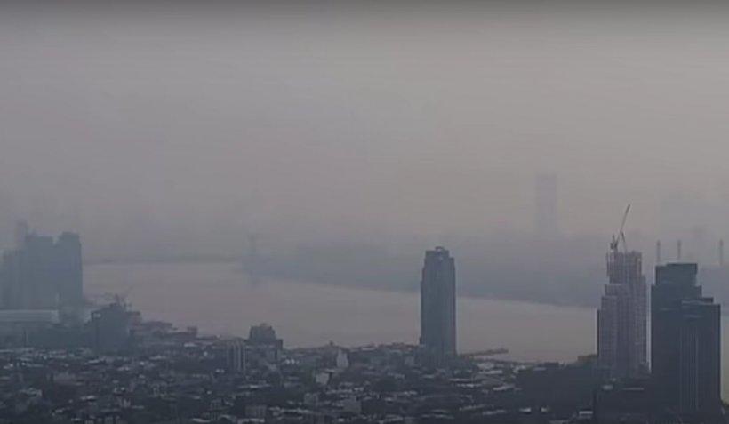 Locuitorii din New York se sufocă în fumul incendiilor din vestul SUA