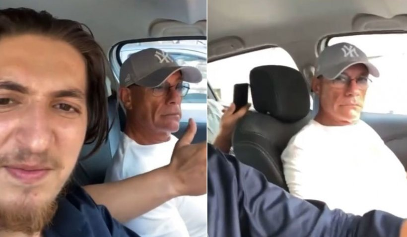 """Van Damme, filmat în România, într-o maşină, în timp ce ascultă manele: """"No good for social media"""""""