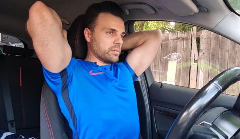 Exerciţii de stretching în maşină, atunci când stăm la semafor, cu specialistul sportiv Cornel Moca