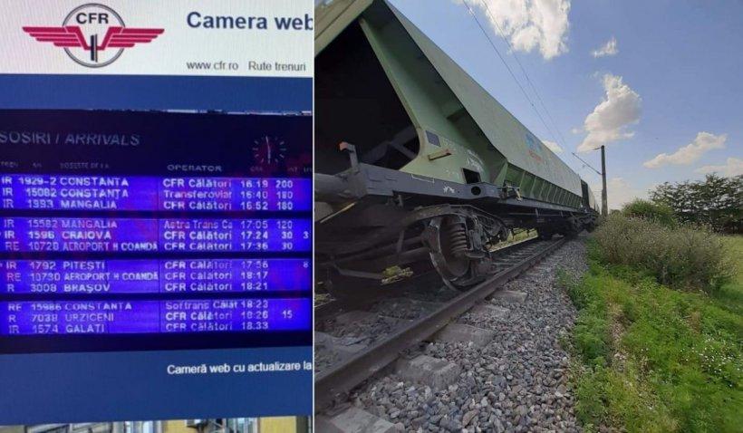 Întârzieri de aproape o oră la trenurile de pe ruta București-Constanța