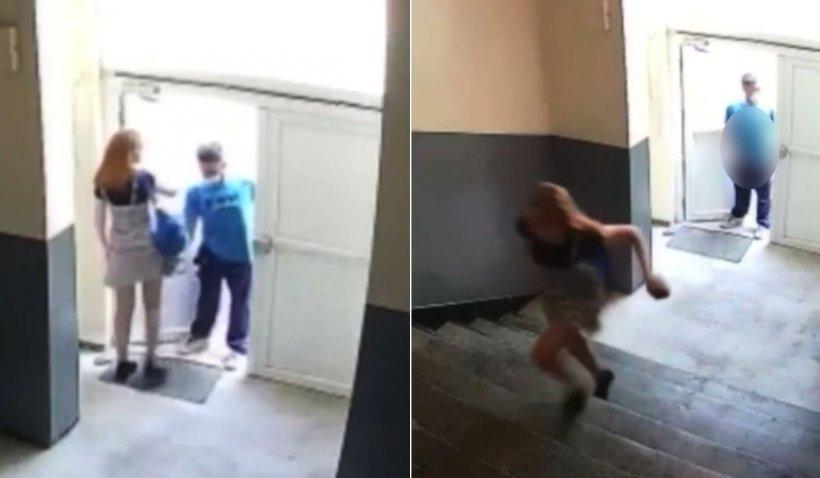 Tânără urmărită în scara unui bloc din Baia Mare de un bărbat bolnav, căutat de Poliţie