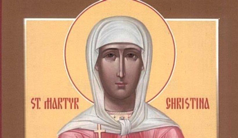 Calendar ortodox 24 iulie 2021. Sărbătoare de Sfânta Cristina