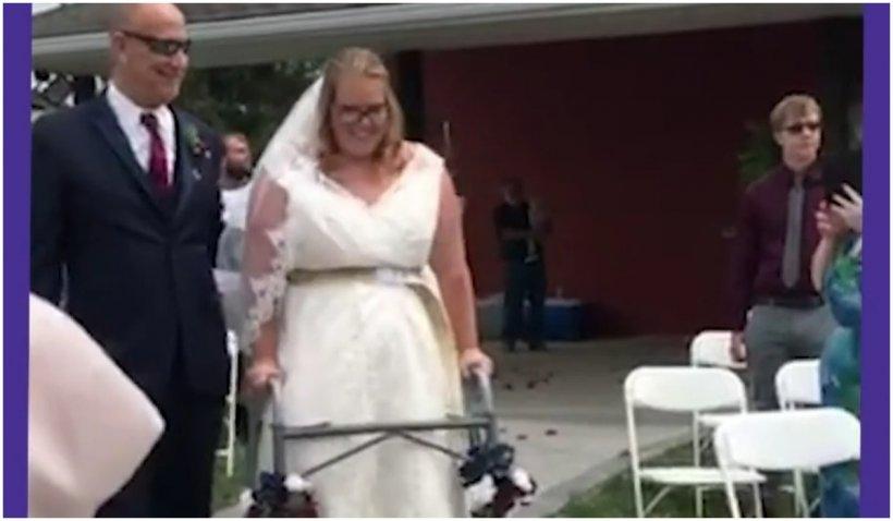 """O viitoare mămică paralizată a realizat imposibilul și a mers în ziua nunții ei: """"Miracolele există!"""""""