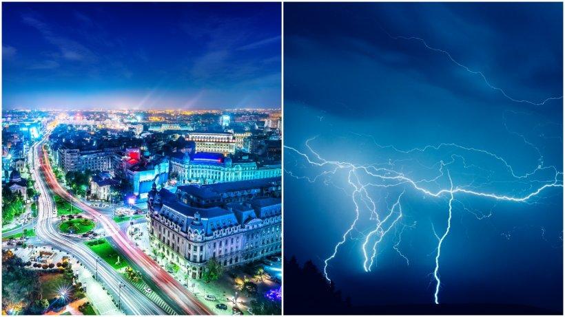 Furtună puternică în Bucureşti și împrejurimi! Rafale de peste 75 km/h și copaci căzuți. Rețeaua electrică, afectată