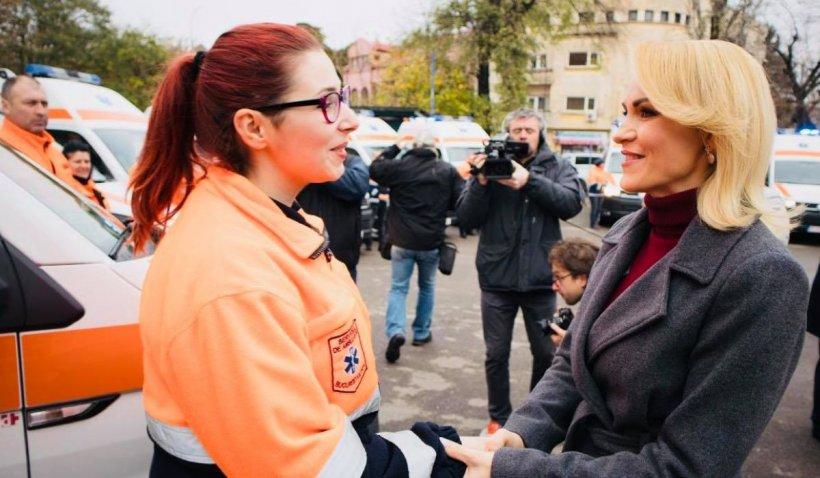 """Gabriela Firea, mesaj de Ziua Națională a Ambulanței: """"Felicitările nu țin loc de ambulanțe. Eroii au nevoie de ajutor"""""""