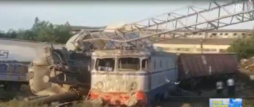 Primele imagini de la accidentul feroviar de la Fetești