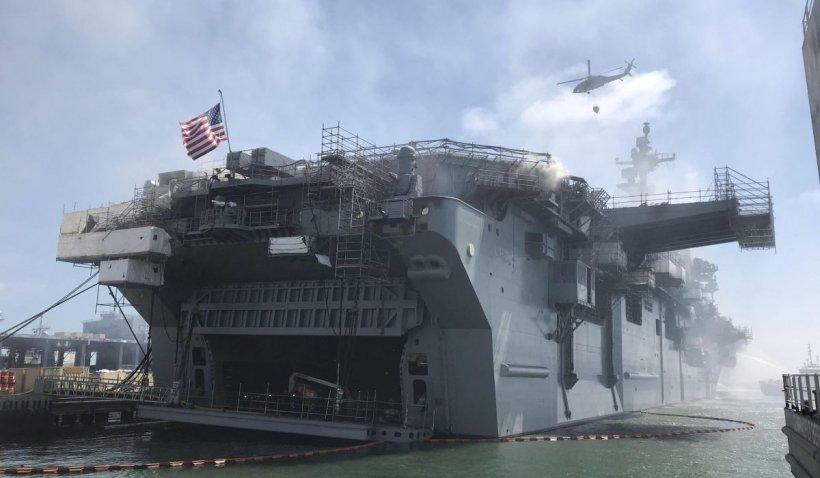 Acuzat că a dat foc intenționat unui vas de luptă de un miliard de dolari, un marinar american riscă să ajungă la Curtea Marțială