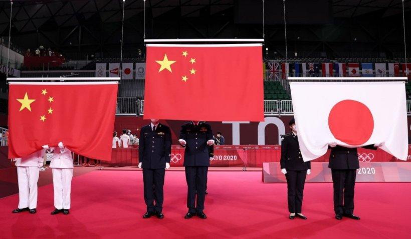 Un om a fost arestat după ce a huiduit la imnul Chinei, în timpul Jocurilor Olimpice de la Tokyo