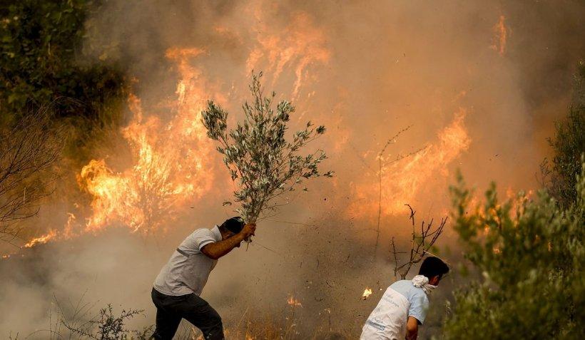 Un cuplu căsătorit, victimă a incendiilor dezlănțuite din Turcia. Situație gravă și în Italia