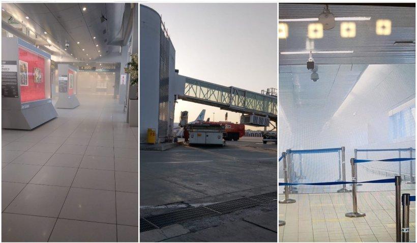 Incendiu la aeroportul Henri Coandă din cauza unui panou electric
