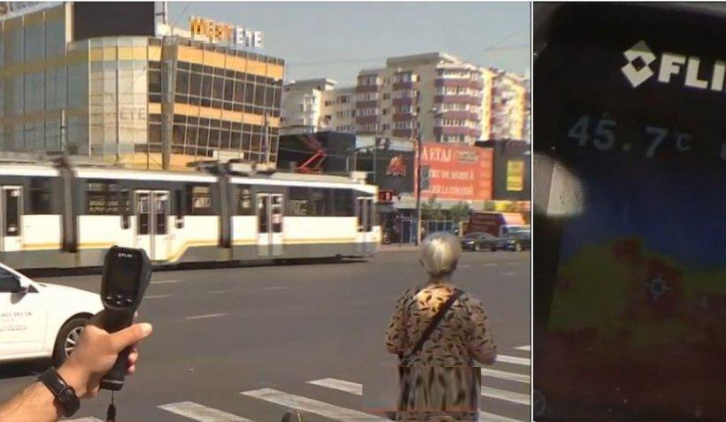 Experiment meteo cu camera de termoviziune în Bucureşti: 41 de grade la umbră, peste 60 la nivelul asfaltului