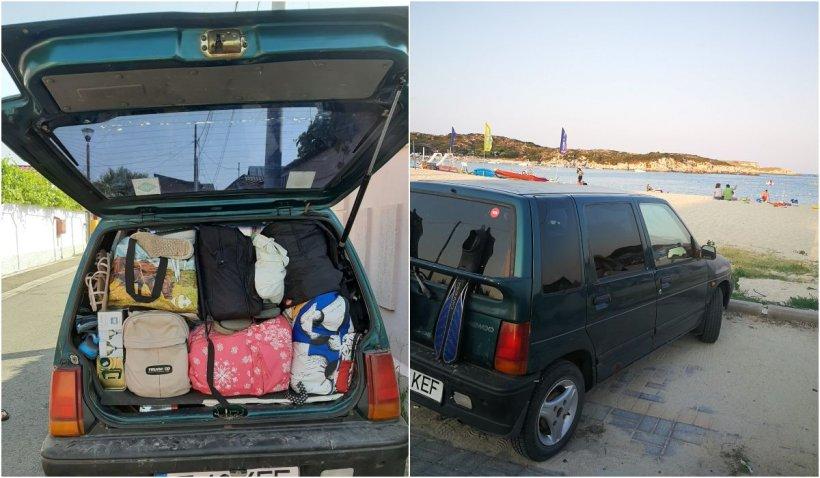 O familie de români a plecat în Grecia cu un Tico, fără roată de rezervă