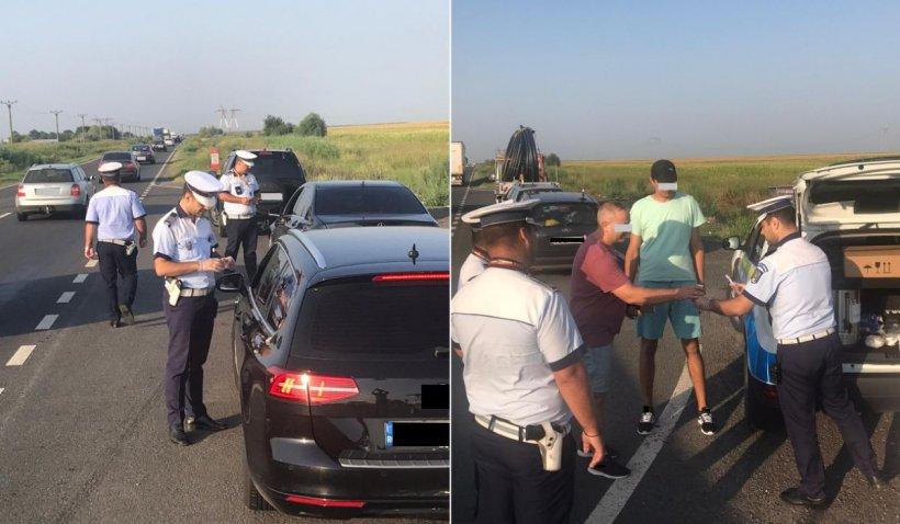 Șoferii în drum spre mare, opriți în trafic pentru a fi serviți cu cafea de către polițiștii brăileni